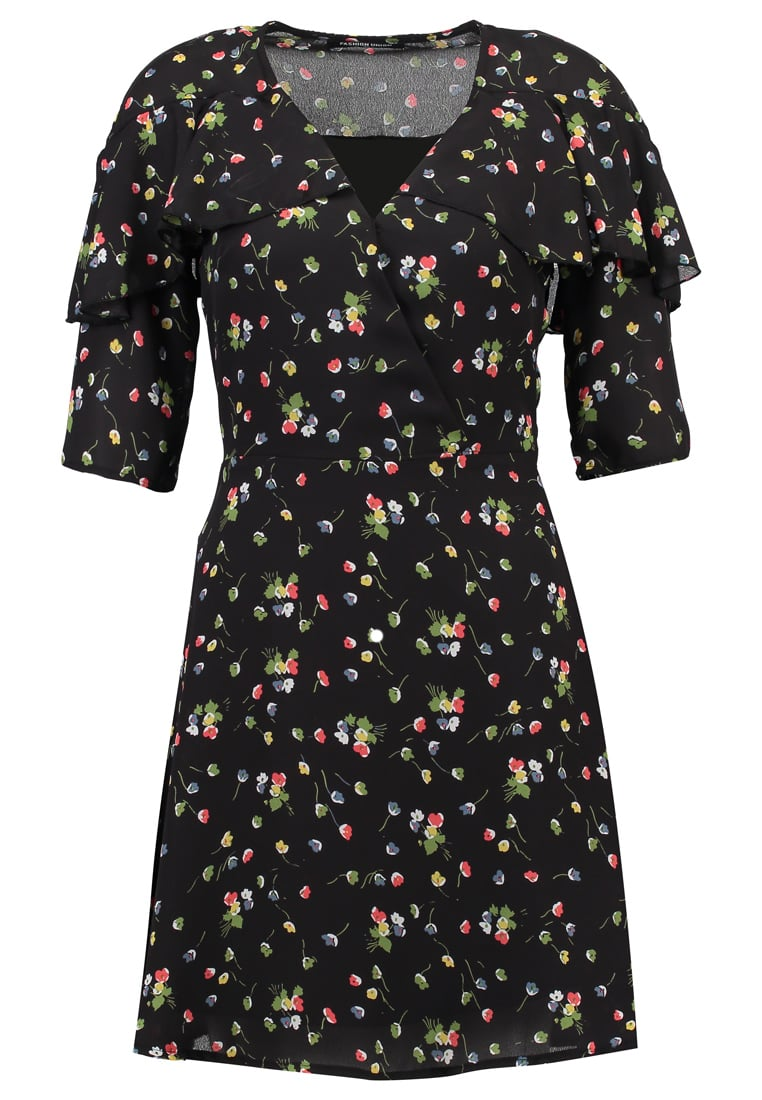 Fashion Union Tall DAPHNE PRIMARY Sukienka letnia black - DAPHNE