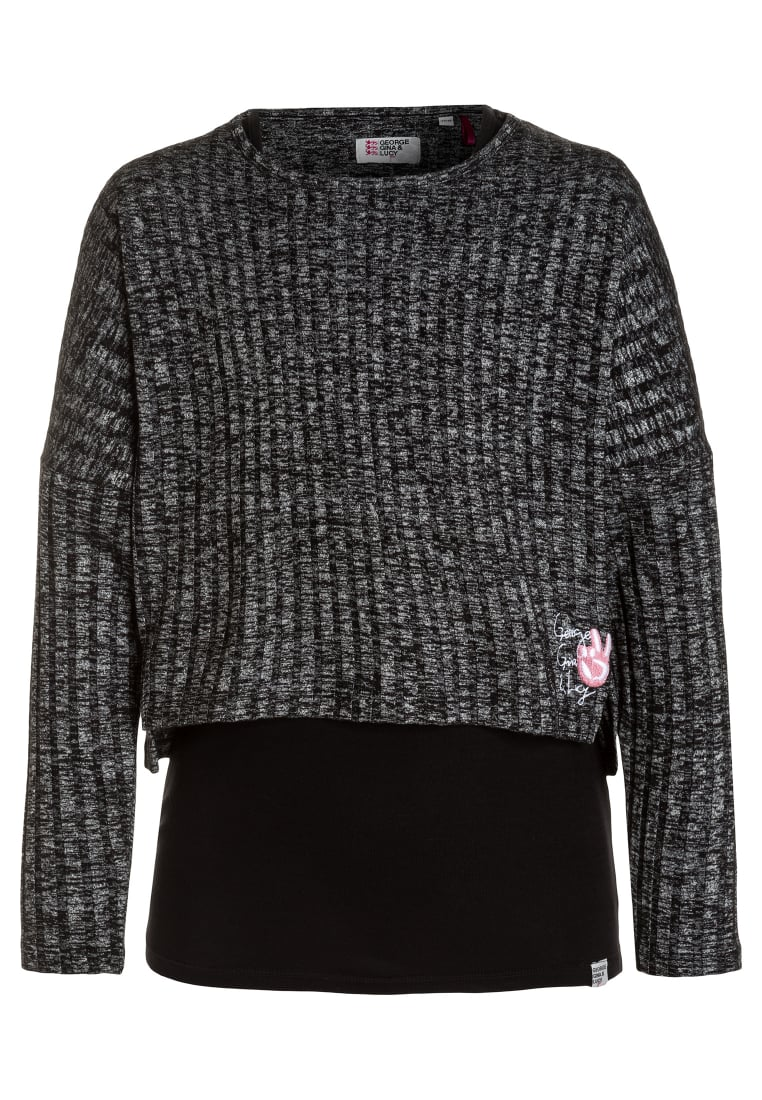 GEORGE GINA & LUCY girls MILANO 2 IN 1 Sweter super black - 50387