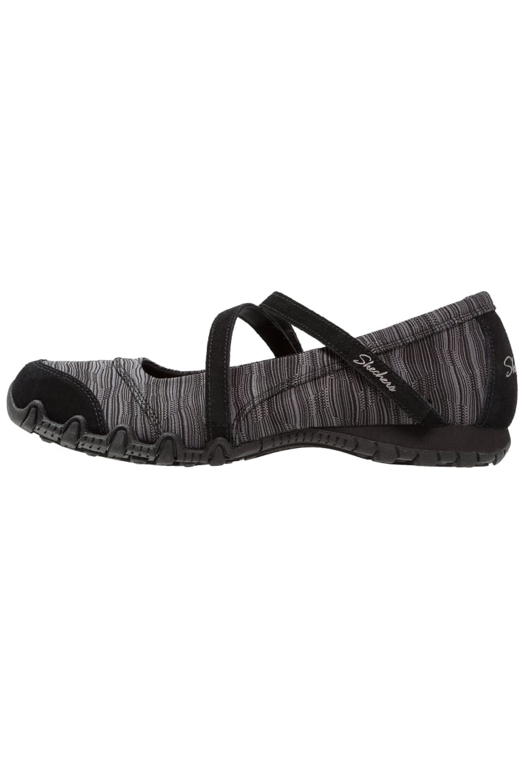 Skechers BIKERS RIPPLES Baleriny z zapięciem black