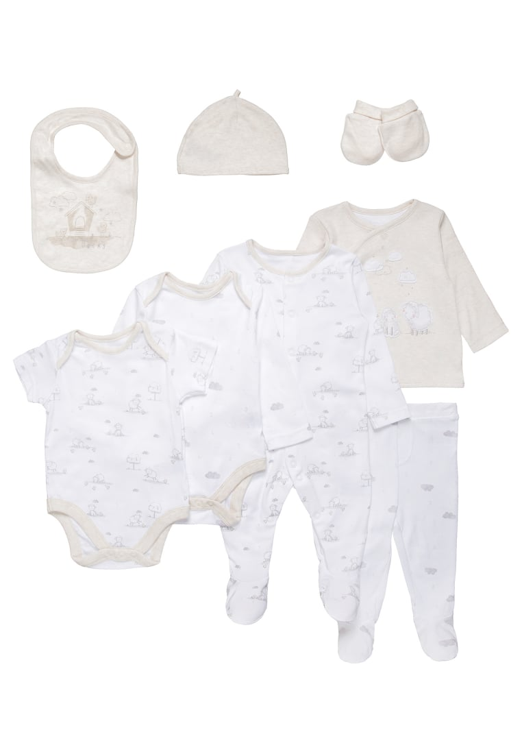 mothercare MY FIRST LITTLE LAMB SET Czapka white/nude - LC588
