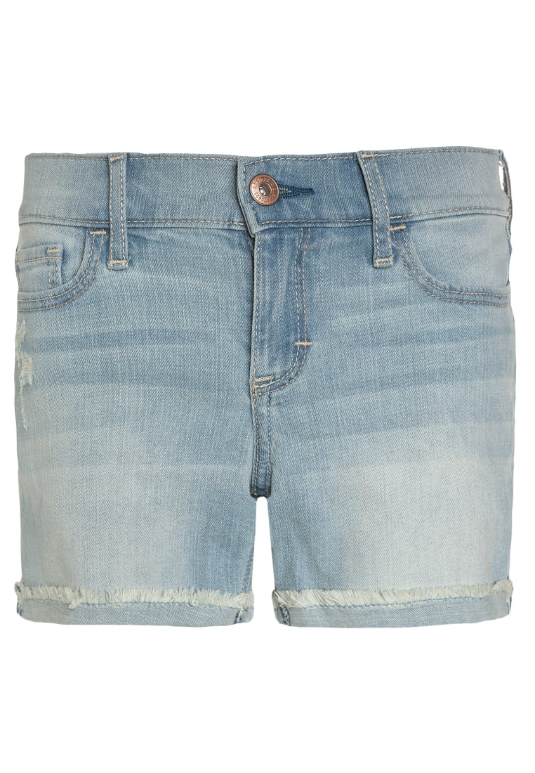 Abercrombie & Fitch Szorty jeansowe light fray - KI249-7011-407084