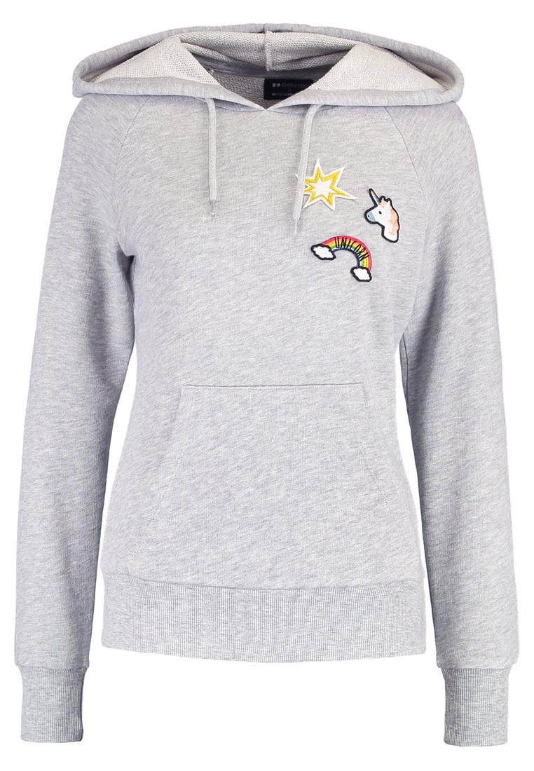 Even&Odd X Visual Statements Bluza grey melange - Unicorn_Hoodie_Patches
