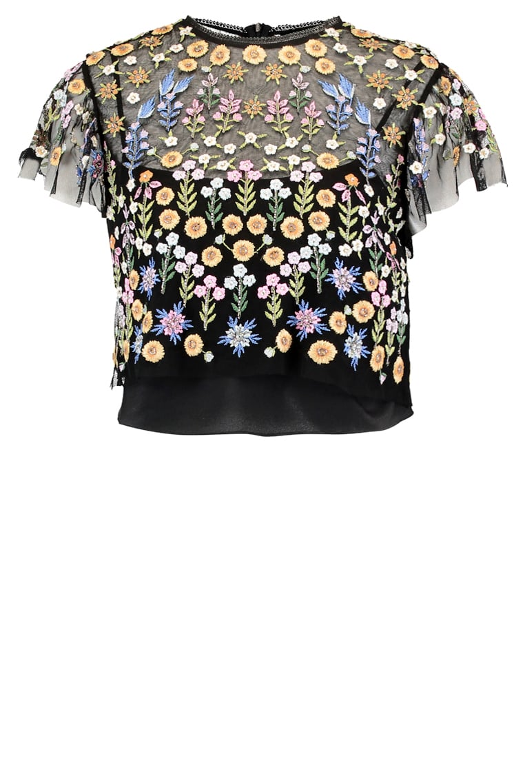 Needle & Thread FLOWERBED Bluzka black - TO0001SS17