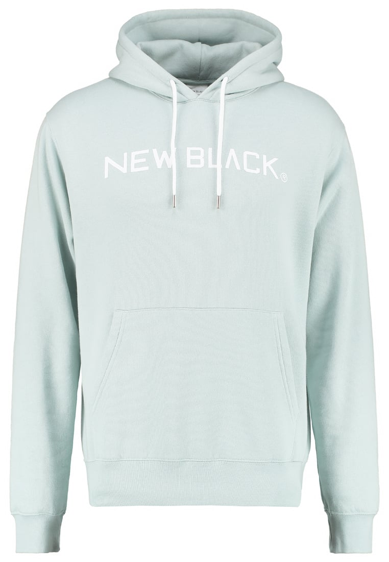 New Black Bluza mint - Logo Hood