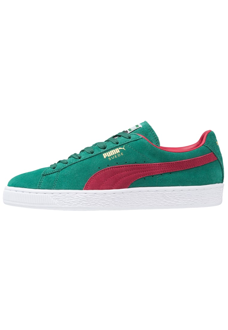 Puma SUEDE CLASSIC+ 90 Tenisówki i Trampki galapagos green/rio red/white/team gold