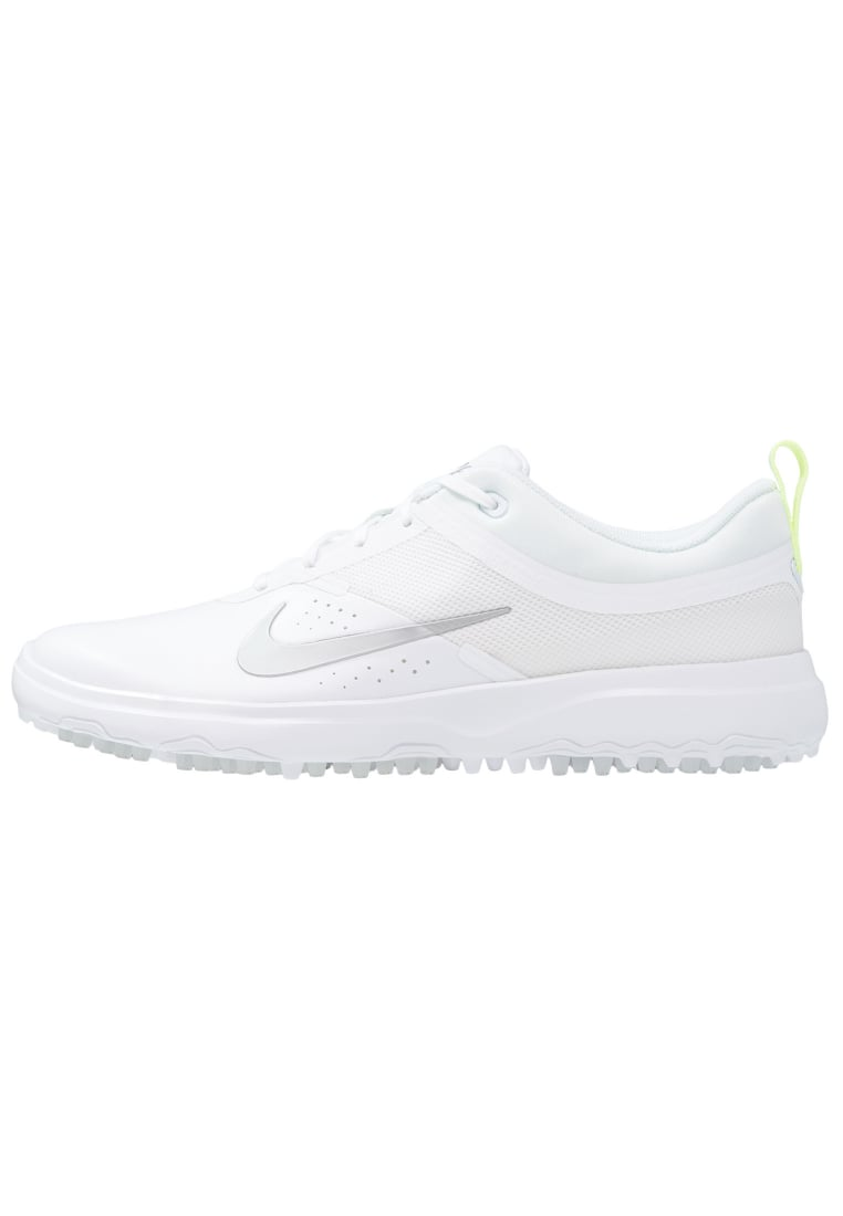 Nike Golf AKAMAI Buty do golfa white/metallic silver/pure platinum - 818732