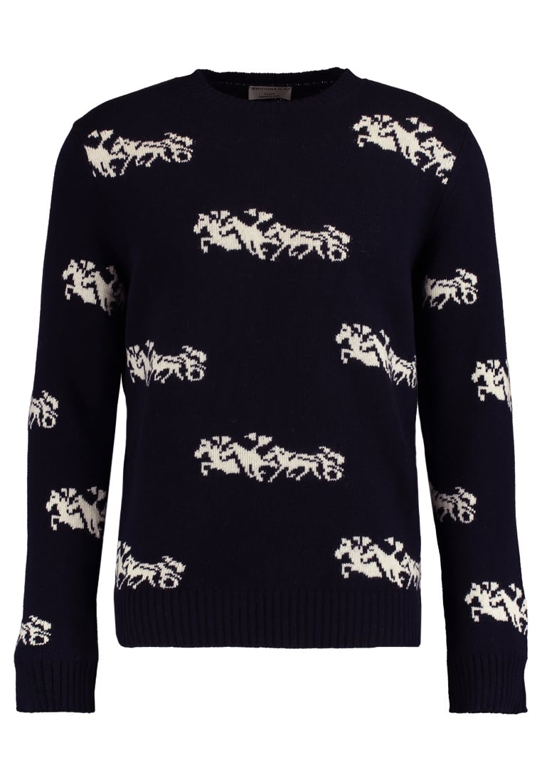 Éditions MR HORSE Sweter off white/night - 0420-T780-OFF WHITE/NIGHT