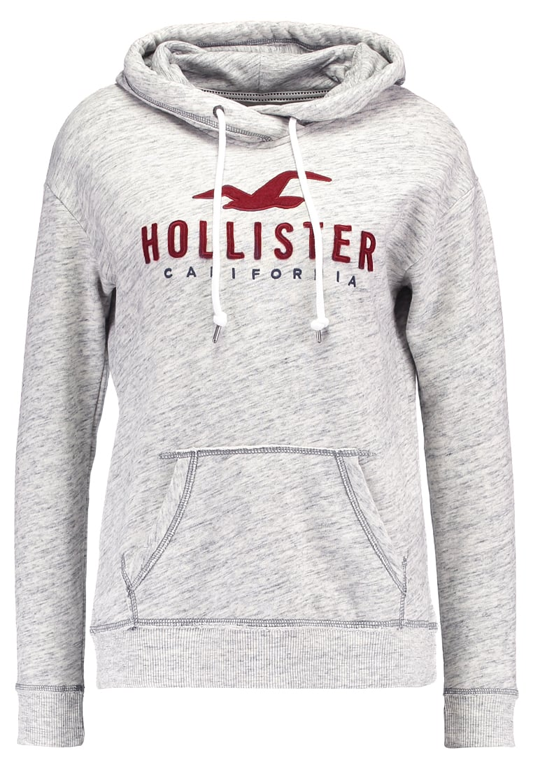 Hollister Co. TIMELESS Bluza z kapturem streaky grey