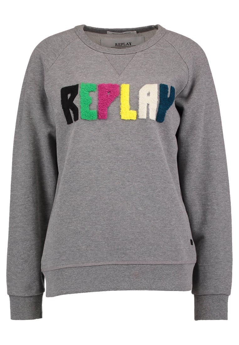 Replay Bluza melange grey