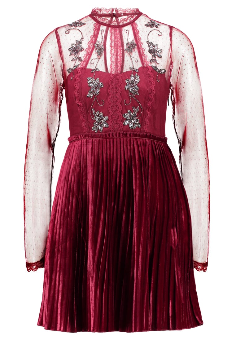 Free People ARIEL PLEATED MINI DRESS Sukienka koktajlowa red - OB736135