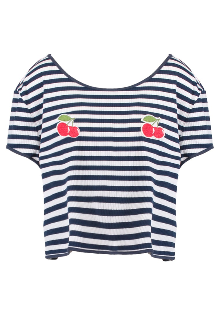 MINKPINK CHERRY KISSES Koszulka do spania navy/white - IZ16F1002