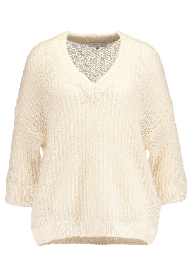 Selected Femme SFJINA  Sweter white swan