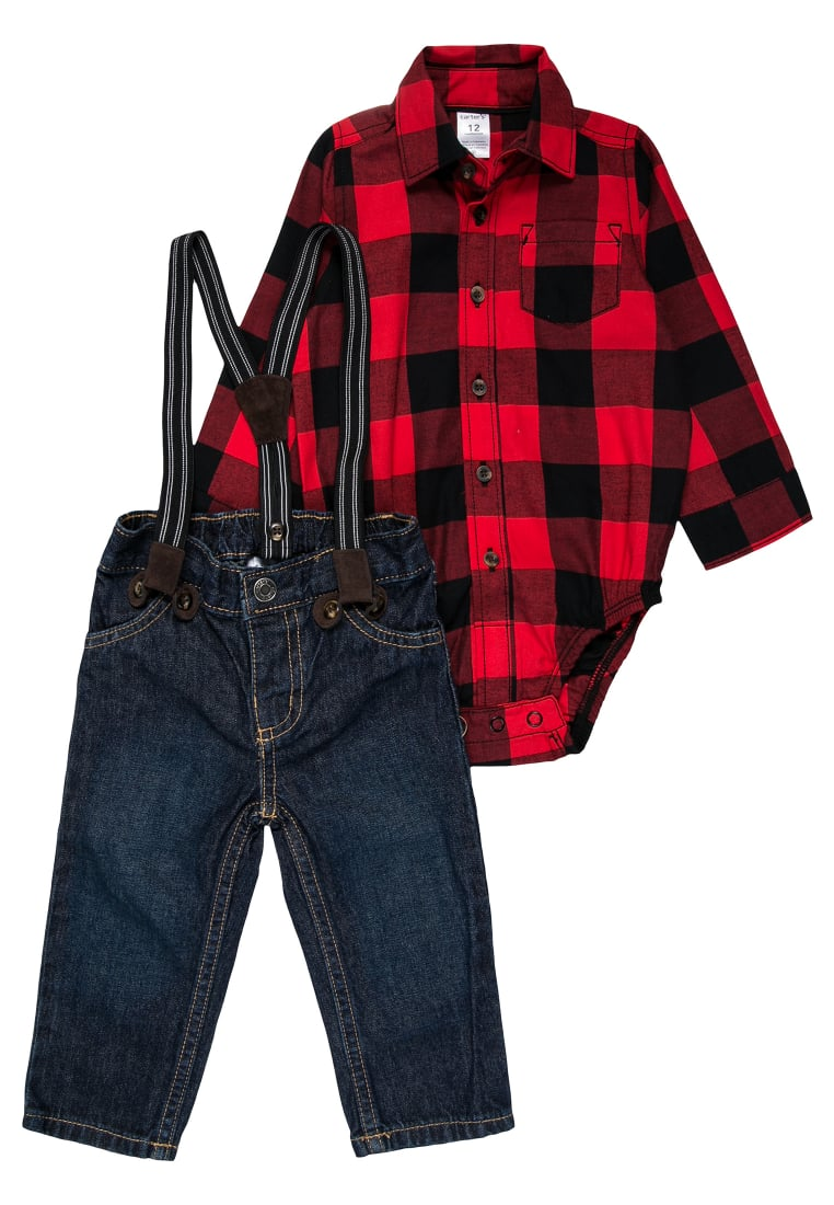 Carter's BOY SUSPENDER BABY Jeansy Relaxed Fit red - 127G603