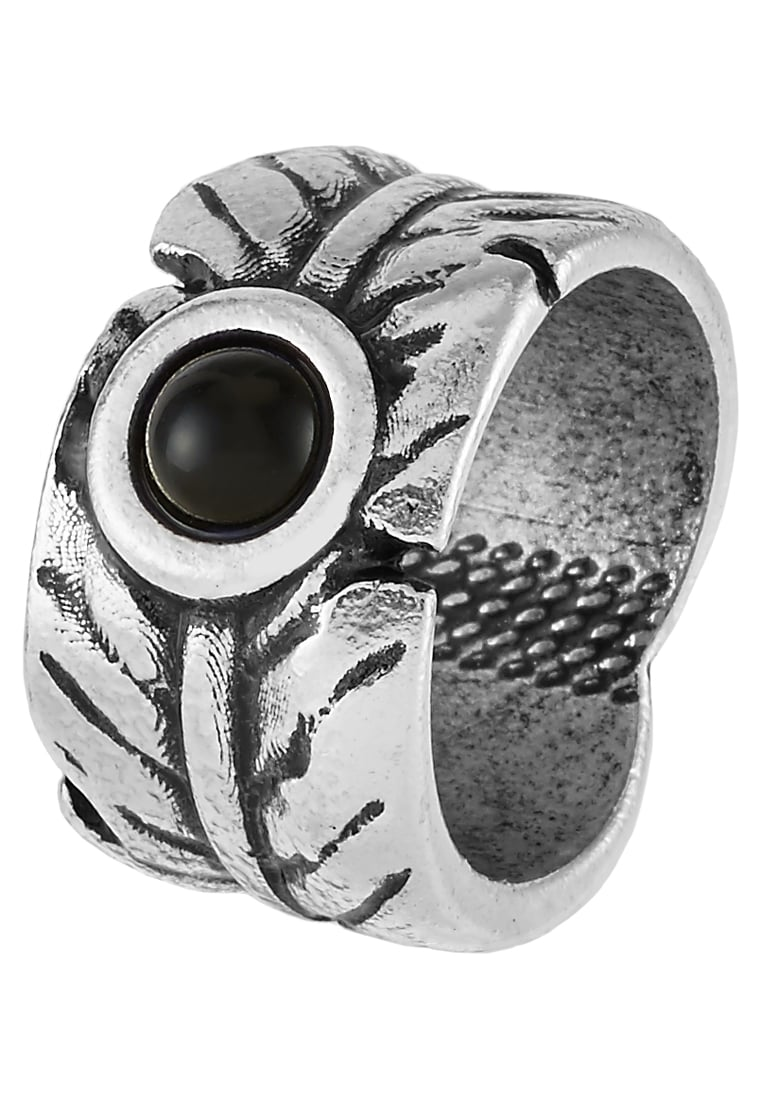 Double U Frenk NATIVE Pierścionek black - RING