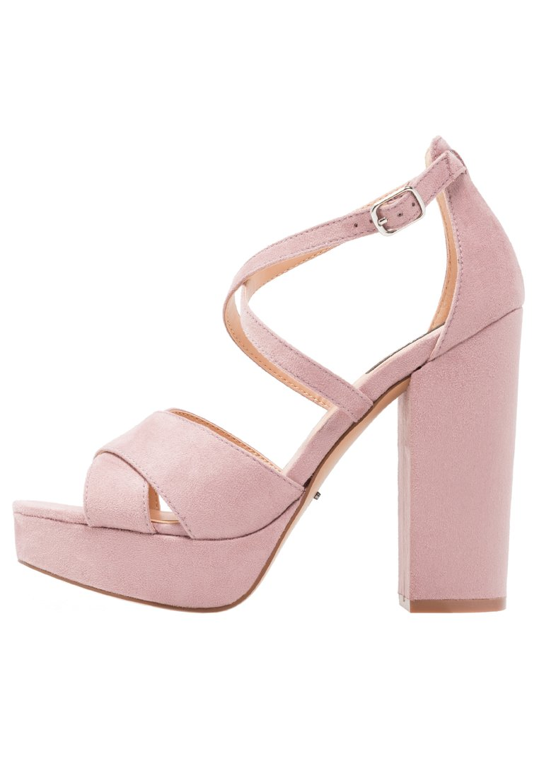 ONLY SHOES ONLALLIE CROSSED Sandały na obcasie lilac - 15150594
