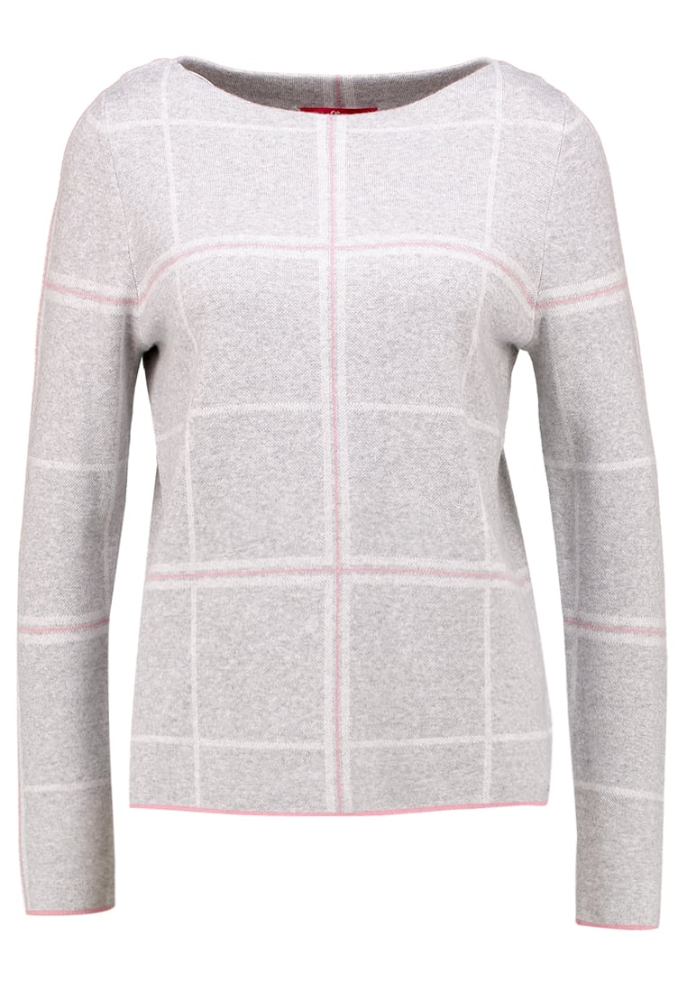 s.Oliver RED LABEL Sweter grey melange check