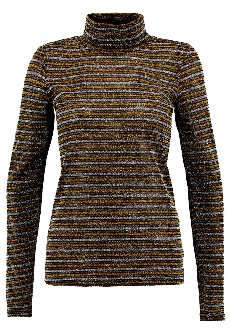 Gestuz ARYA ROLLNECK MA17 Sweter yellow/green stripe - 10901407