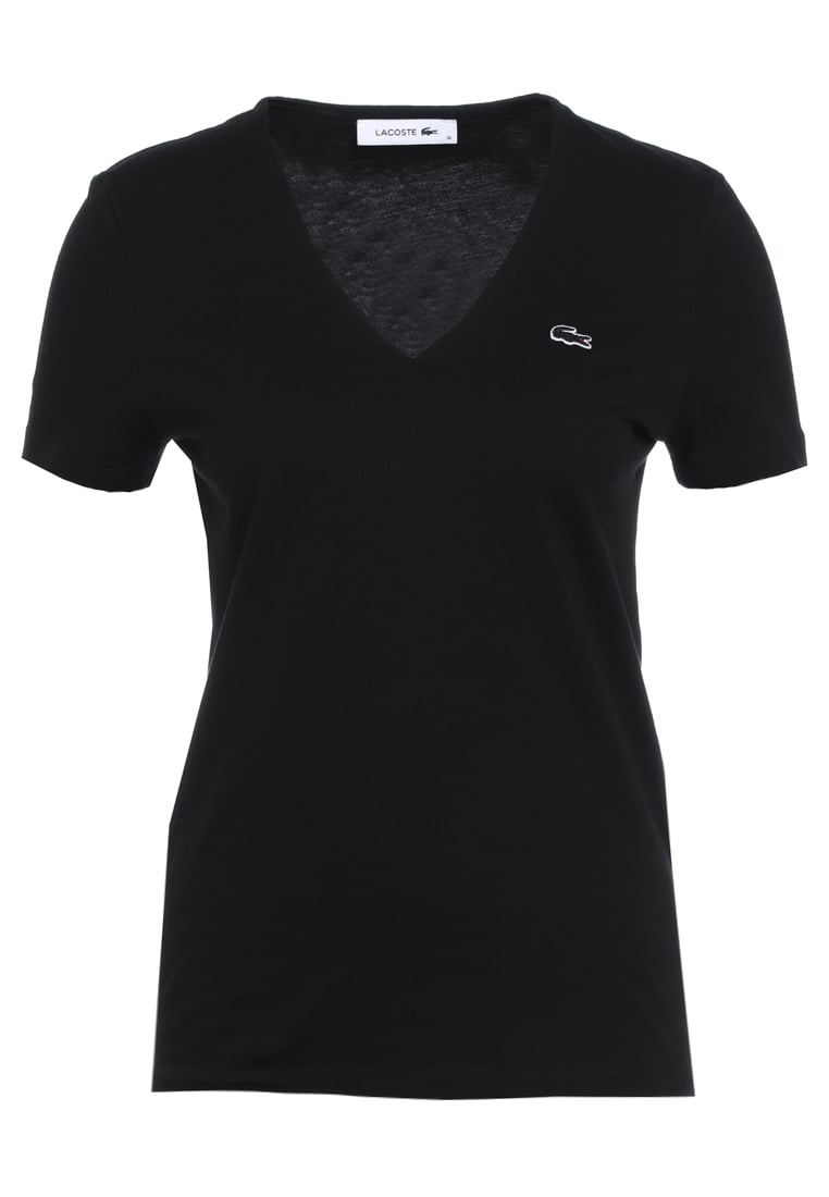 Lacoste NECK TEE Tshirt basic black