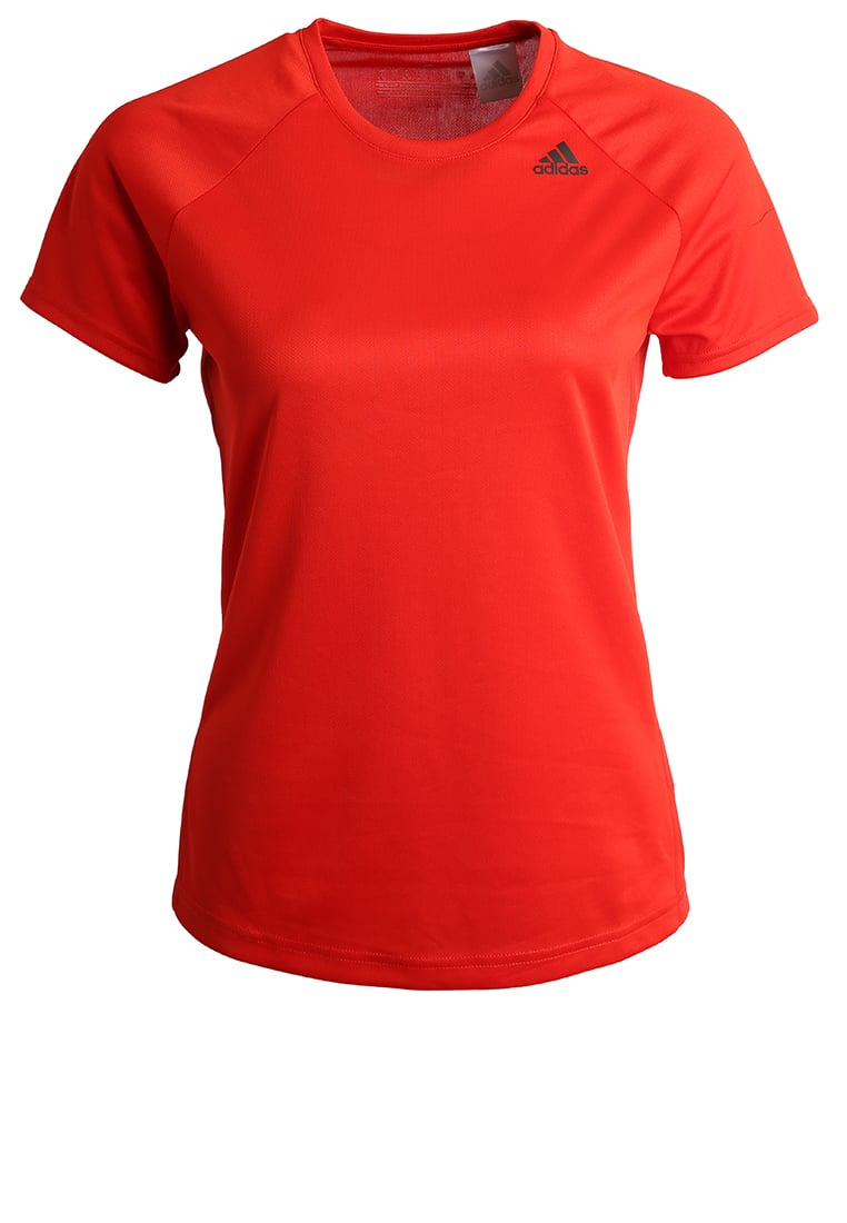 adidas Performance D2M Tshirt basic coral red - BXJ04