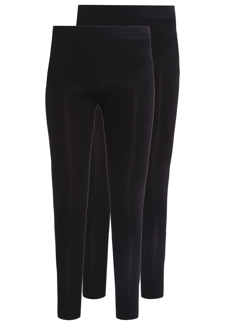 New Look 2 PACK Legginsy black - 3820867