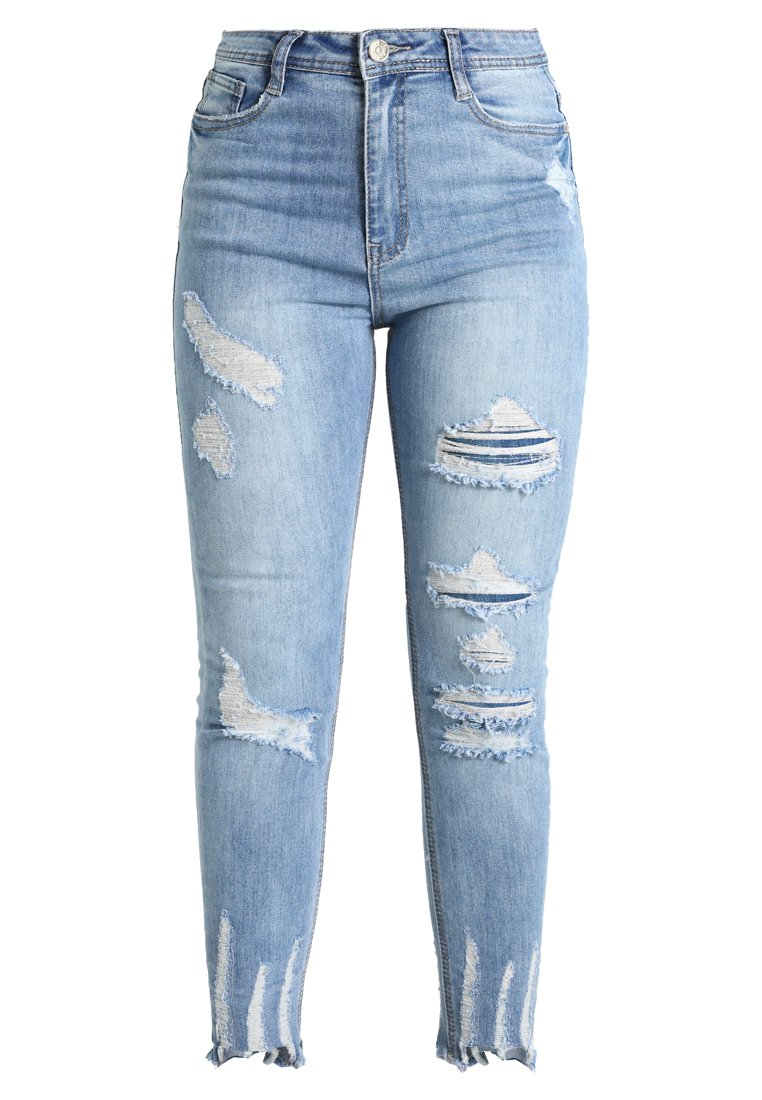 Missguided Tall SINNER HIGHWAISTED AUTHENTIC Jeans Skinny Fit blue - WSG1801167
