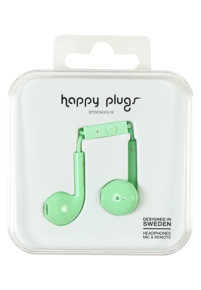 Happy Plugs PLUS DELUXE Słuchawki mint - Happy Plugs Earbud Plus Deluxe