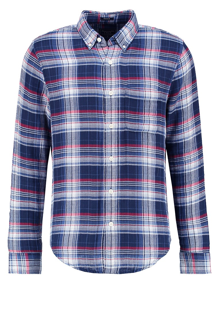 Abercrombie & Fitch MUSCLE FIT Koszula blue check - KI125-6310