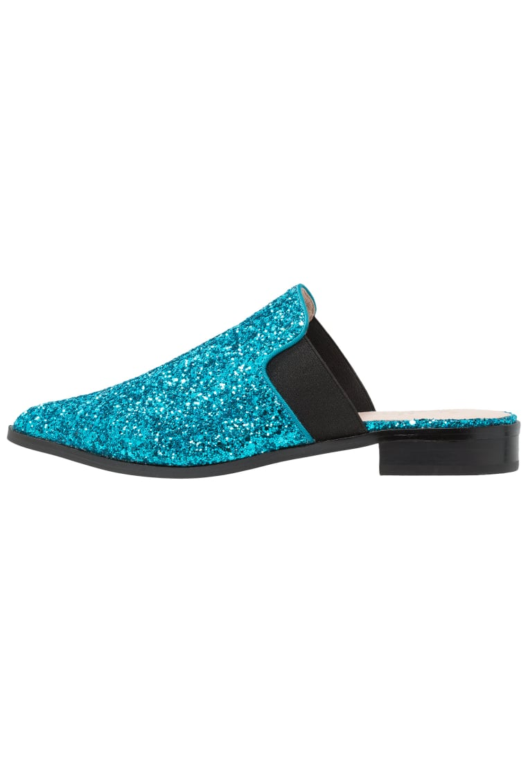 Shellys London DONEEN Klapki blue glitter