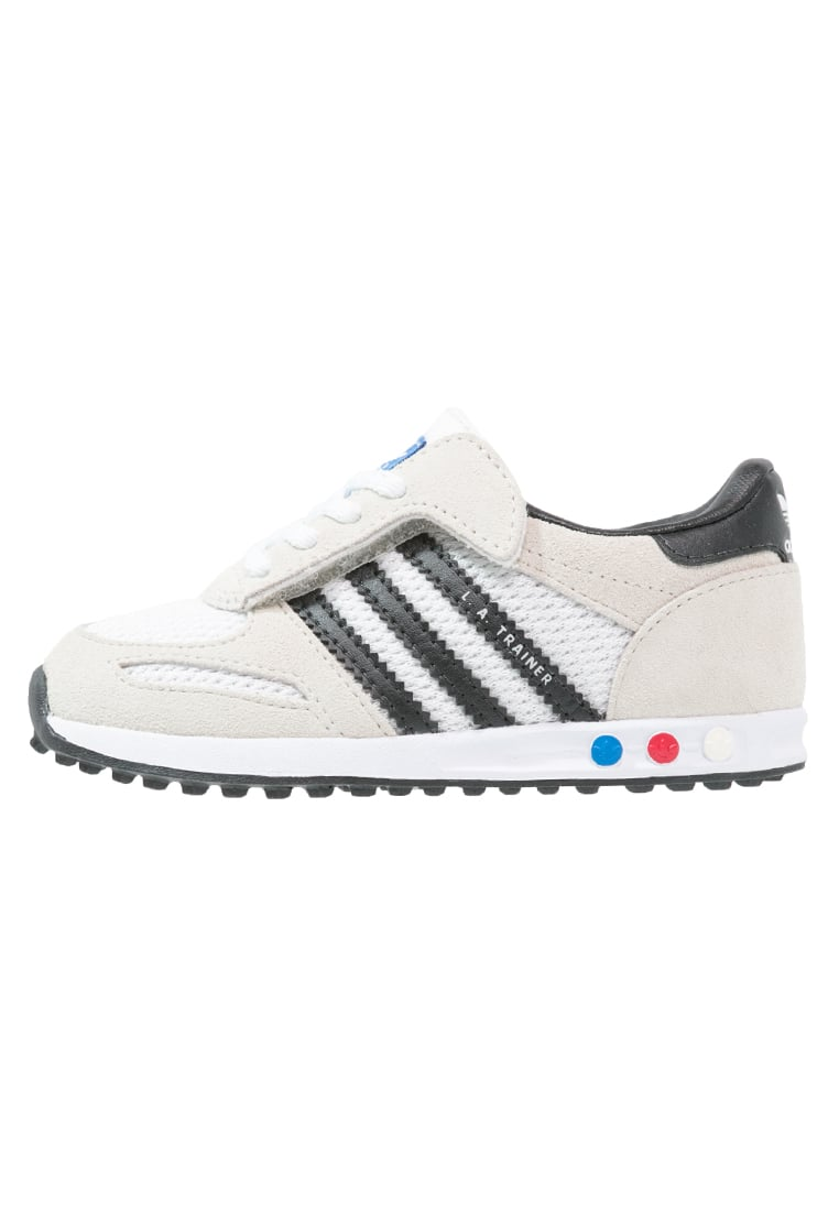 adidas Originals LA TRAINER Tenisówki i Trampki vintage white/core black/clear brown - CEQ71