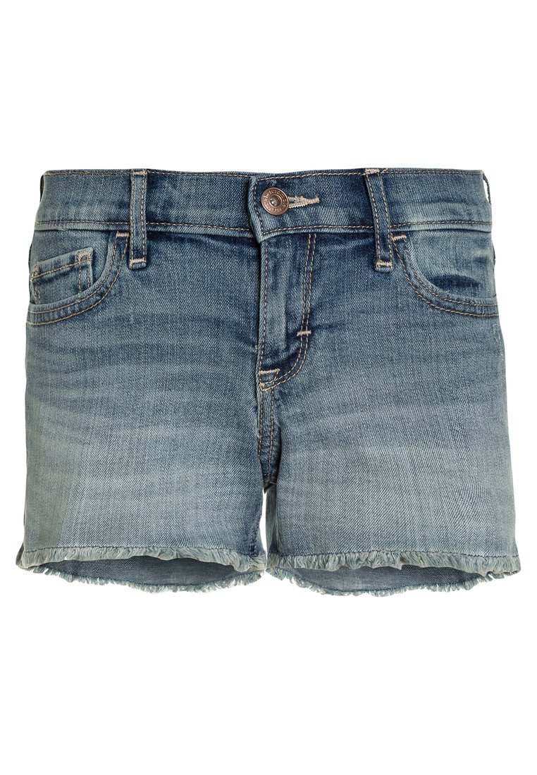 Abercrombie & Fitch CORE MIDI Szorty jeansowe blue denim - KI249-8000