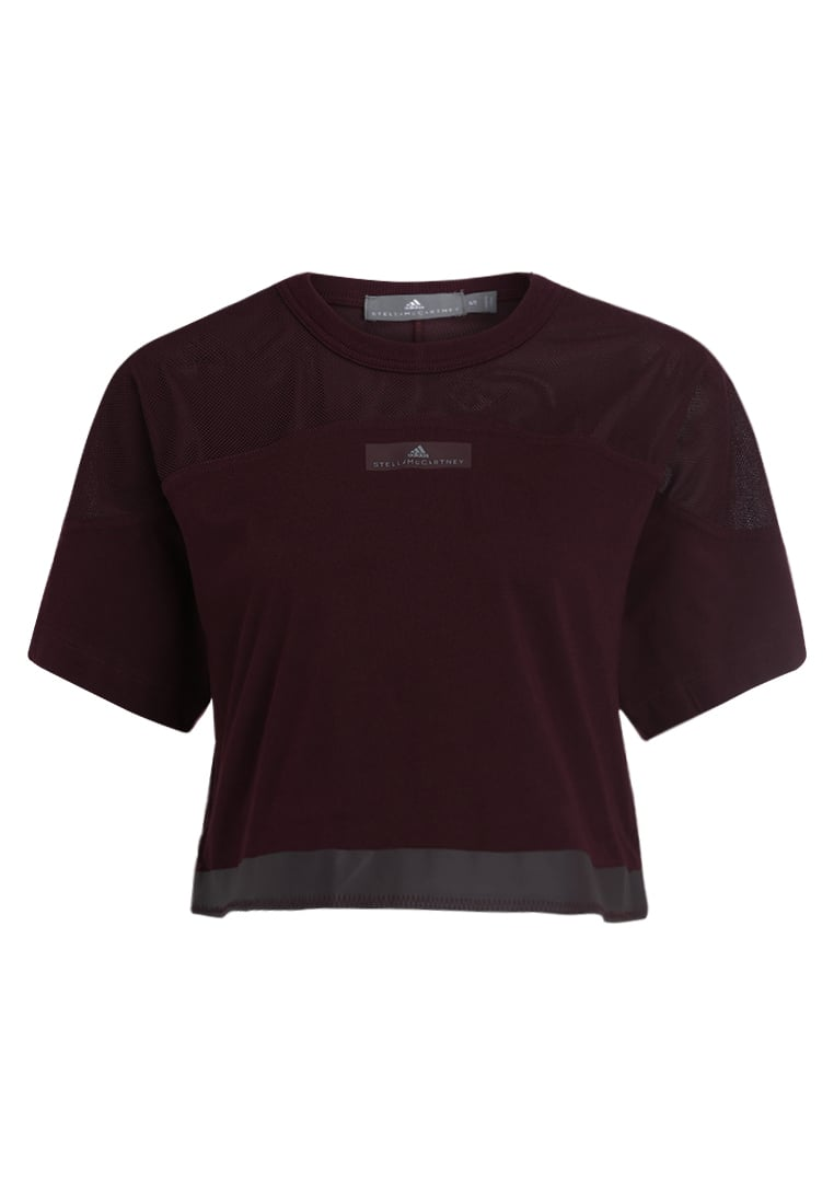 adidas by Stella McCartney ESSENTIAL CROP Tshirt basic dark bordeaux - DUJ42