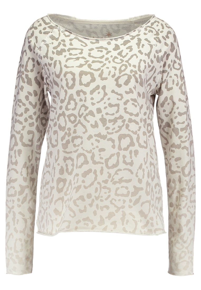 Juvia ANIMAL PRINT FADED SWEAT Bluza khaki - 20023