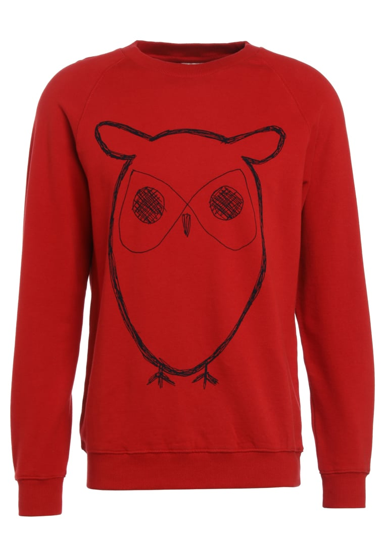 Knowledge Cotton Apparel BIG OWL Bluza pompeain red - 30295