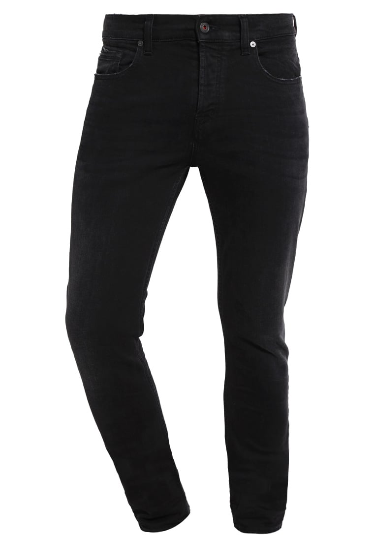 7 for all mankind CHAD Jeansy Zwężane black - SD3R 370FL