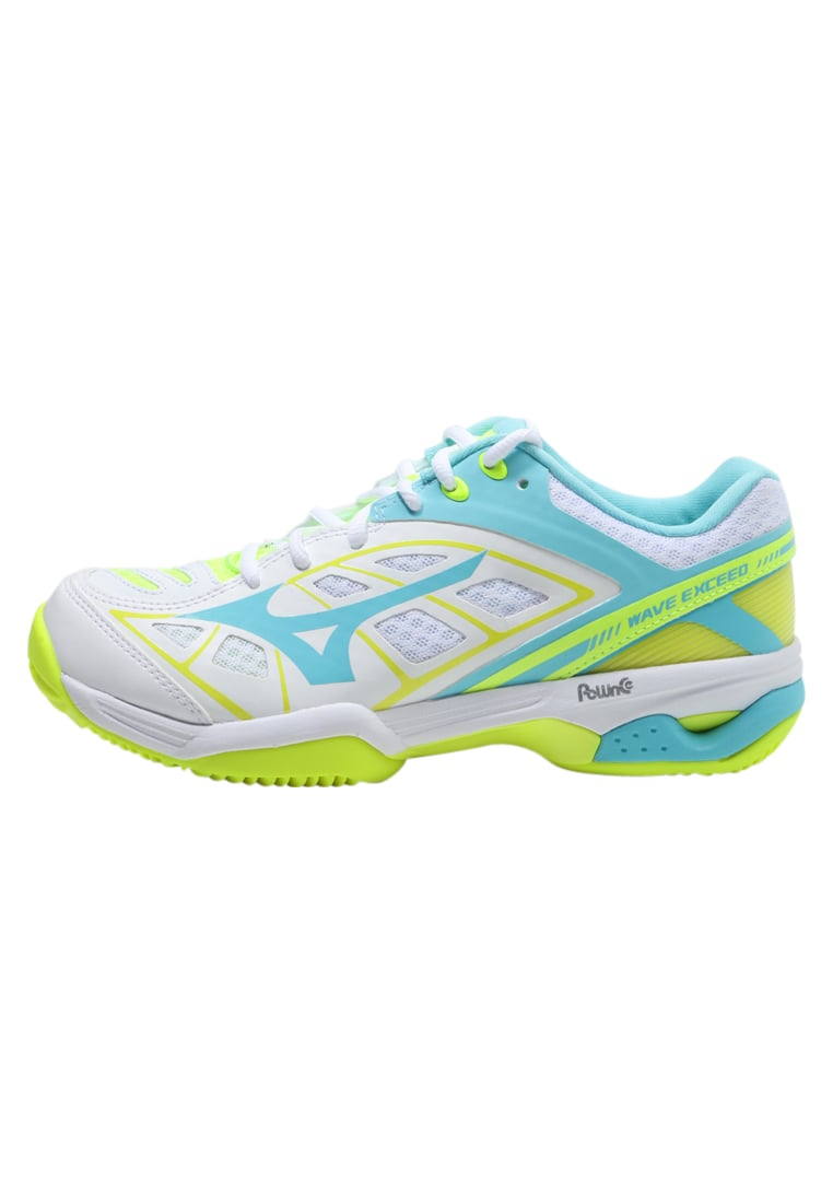 Mizuno WAVE EXCEED CLAYCOURT Buty do tenisa Outdoor white/blueradiance/yellow - 61GC1755
