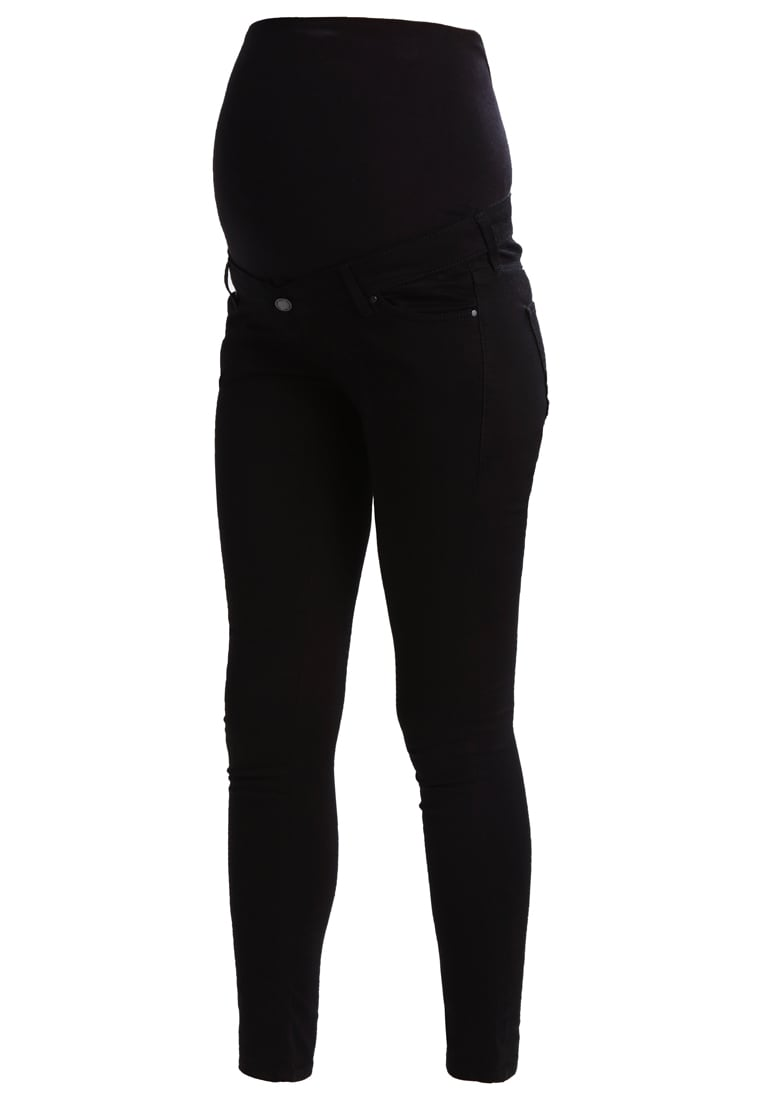 Topshop Maternity LEIGH Jeansy Slim fit black - 44I15LBLK