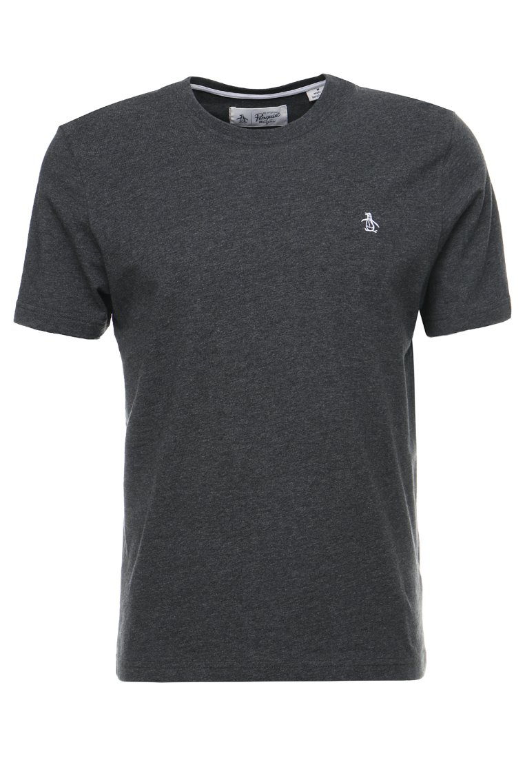 Original Penguin EMBROIDRED LOGO TEE Tshirt basic dark charcoal heather - OPKB0303