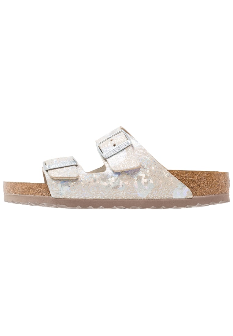 Birkenstock ARIZONA HEX Klapki metallic silver - 1006740