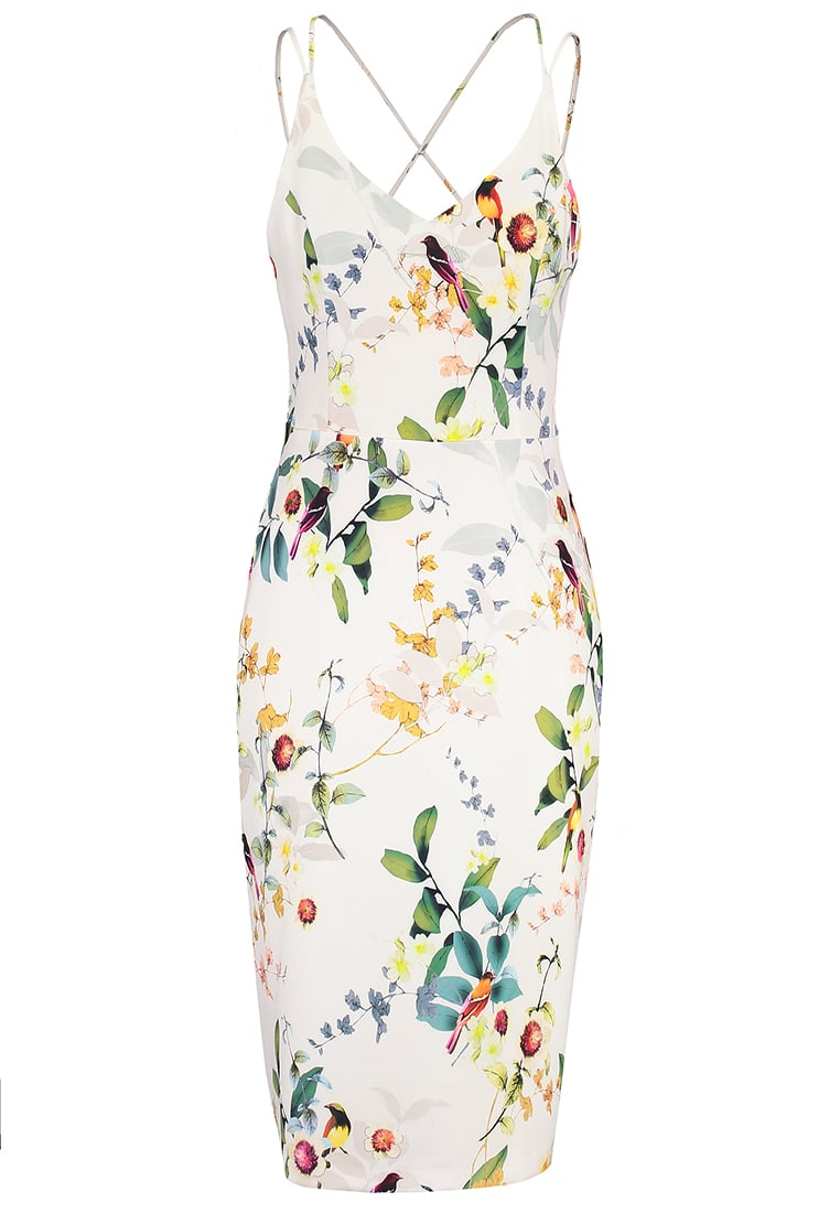 Oasis BIRD Sukienka etui ivory - NEON BIRD PENCIL DRESS