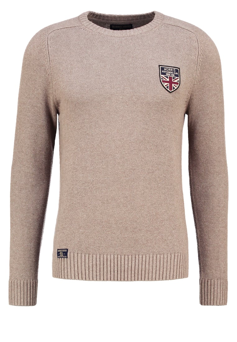 Morris BROOKS O NECK Sweter beige - 900515