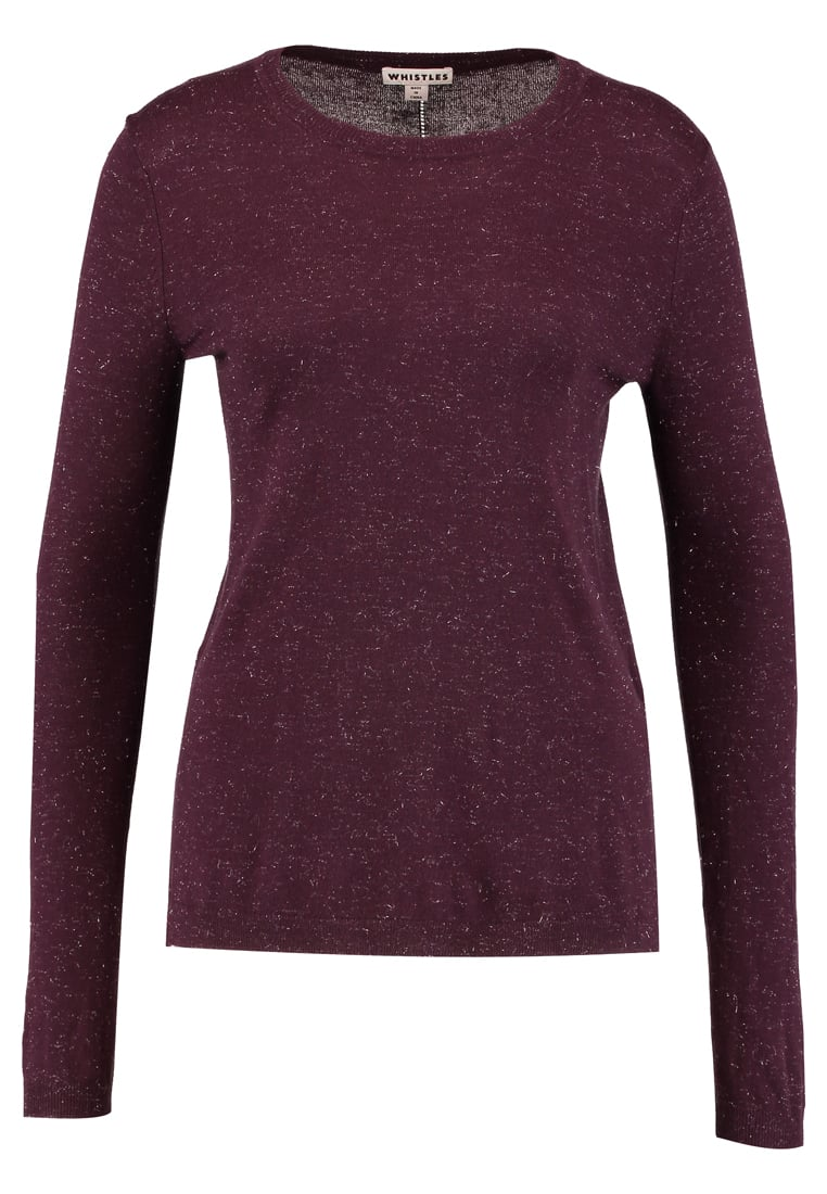 Whistles ANNIE SPARKLE Sweter fig - REPEAT