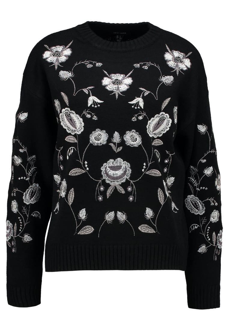 New Look ALL OVER JUMPER Sweter black - 5495720