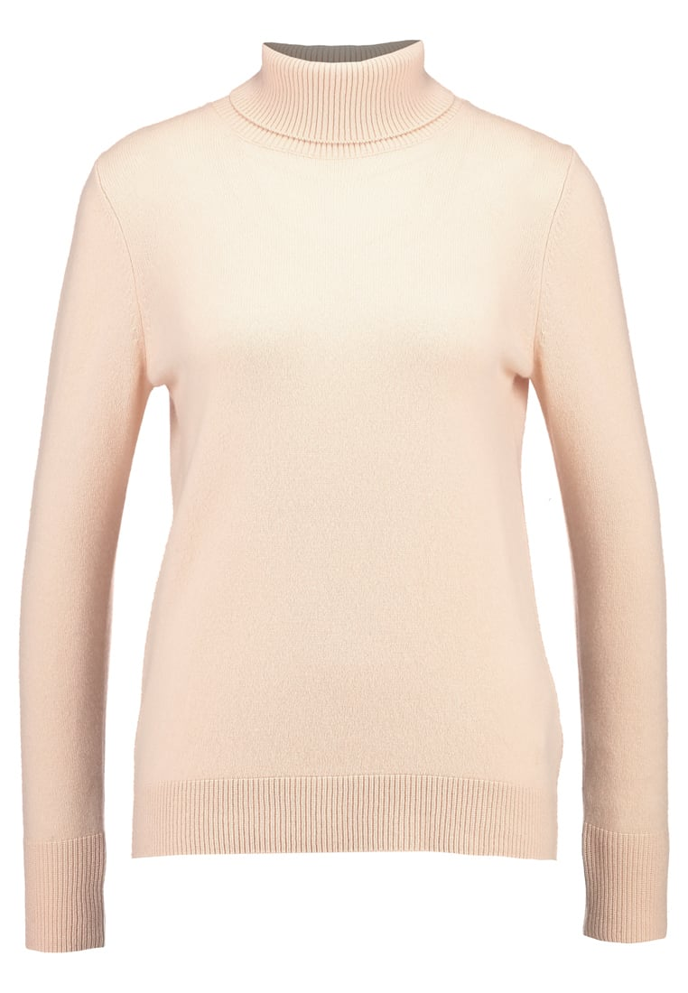 Benetton TURTLE NECK Sweter blush pink
