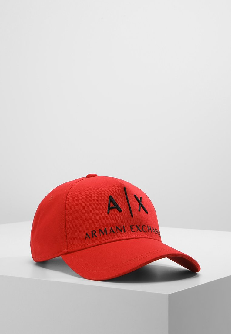 Armani Exchange Czapka z daszkiem absolute red - 954039 CC513