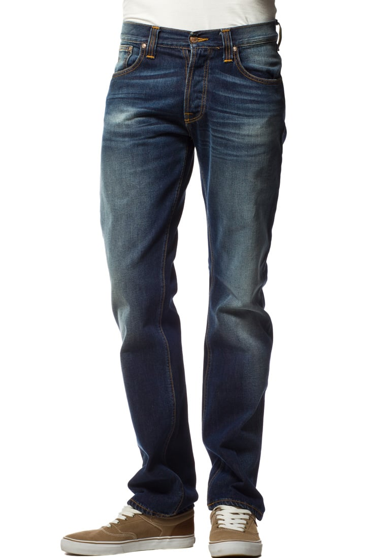Nudie Jeans AVERAGE JOE Jeansy Straight leg blue shades - 111125