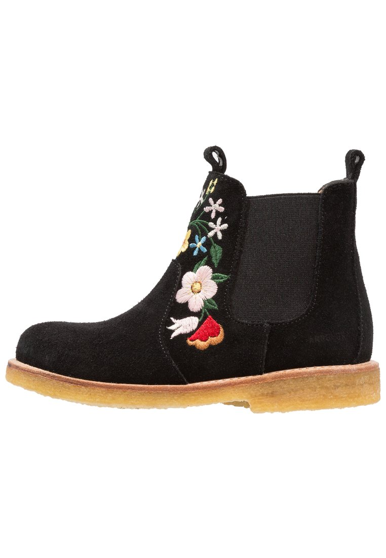 ANGULUS Botki black - Chelsea boot with embroidery