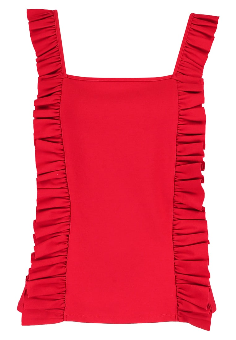 Finery CRESCENT Tshirt z nadrukiem true red - Crescent Ruffle Cami