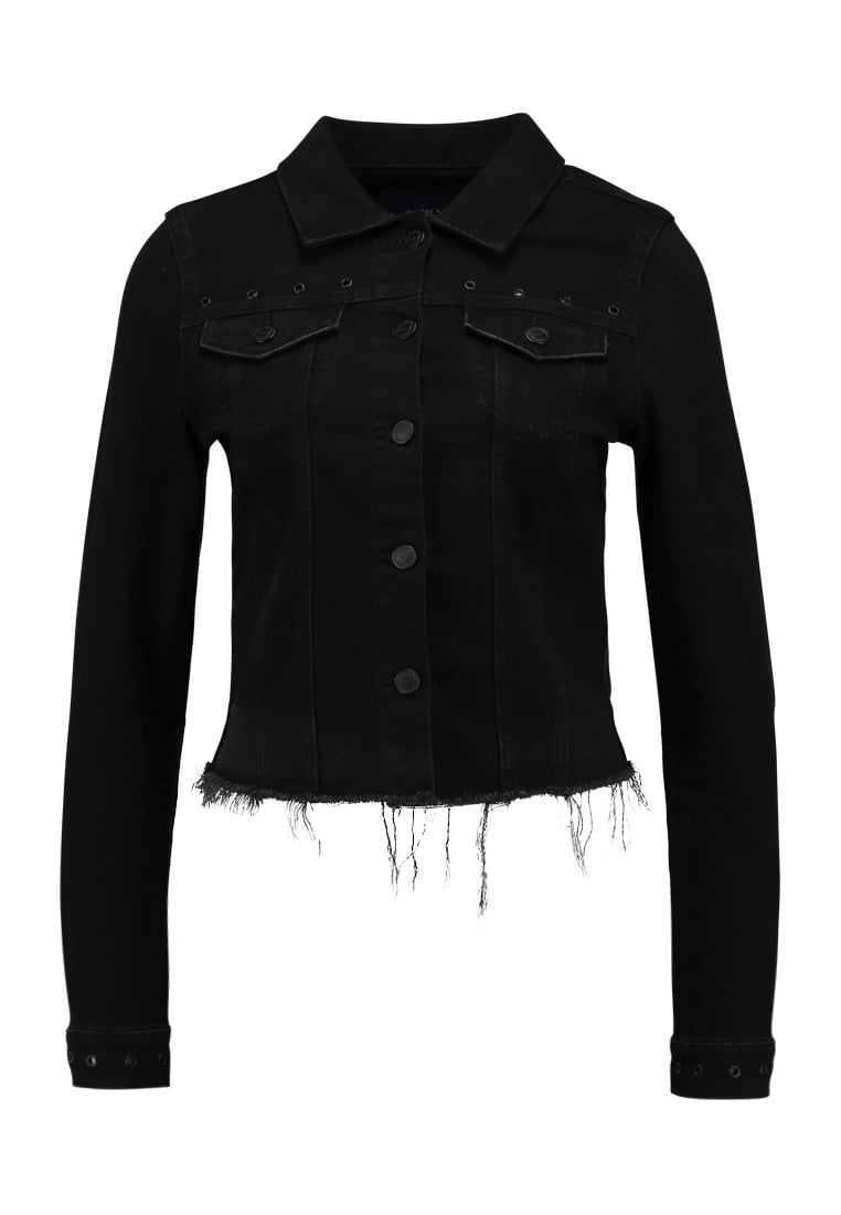 ONLY ONLCHRIS EYELET JACKET Kurtka jeansowa black denim