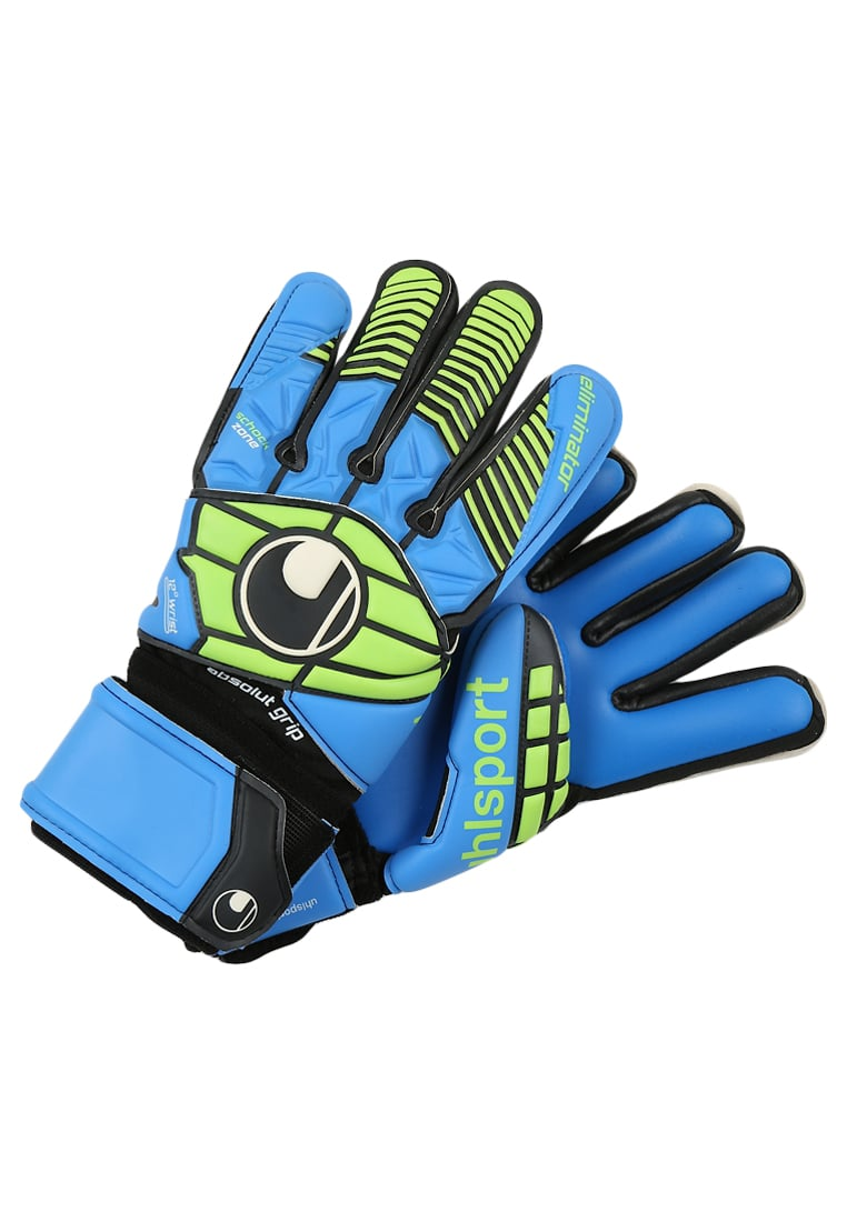 Uhlsport ELIMINATOR Rękawice bramkarskie schwarz/blau/power green - 1000161