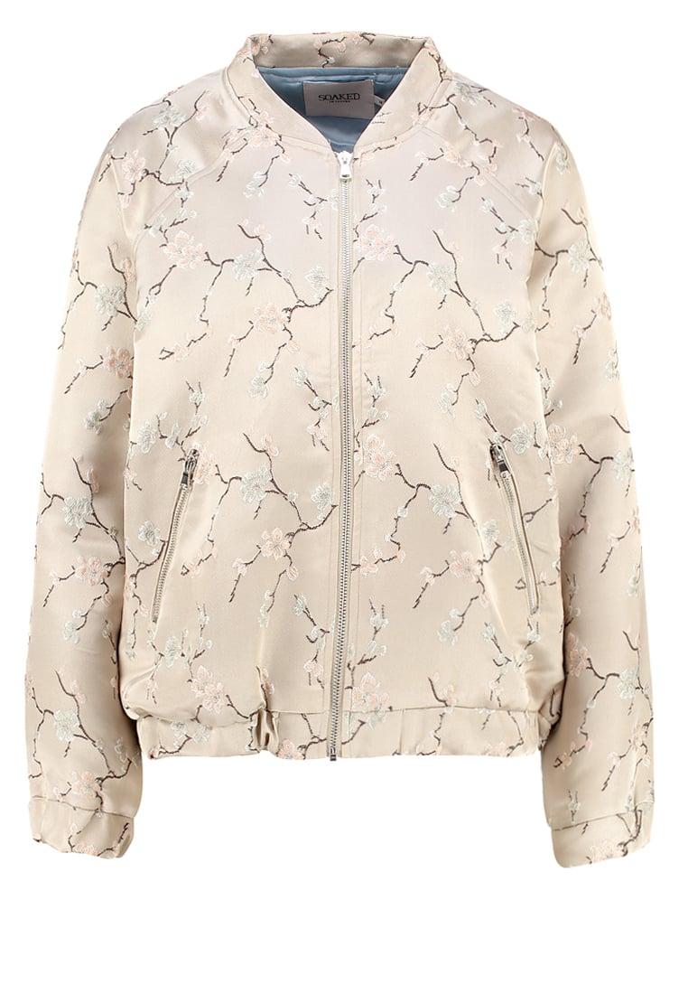 Soaked in Luxury DAPHNE Kurtka Bomber light grey - 30401714
